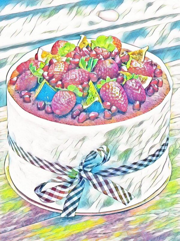 La multi ani - Tort capsuni